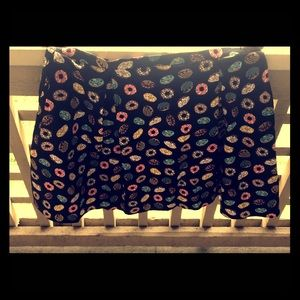 PUG Skirts - PUG Go Lightly Joyce skirt in Black Donuts (4X)